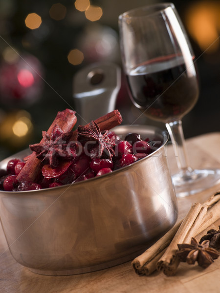 Cranberry Sauce and Ingredients Stock photo © monkey_business