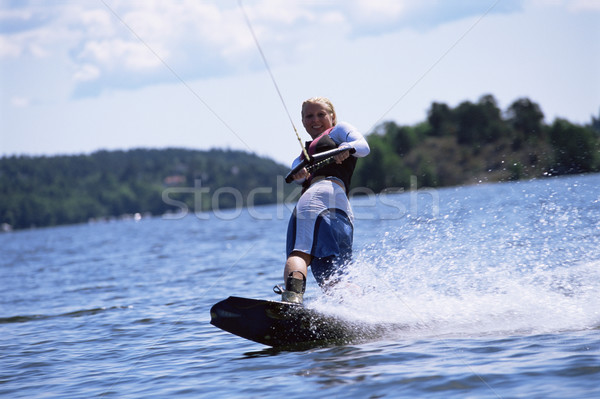 A young woman water skiing Stock photo © monkey_business
