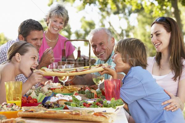 Stock photo: Family Dining Al Fresco