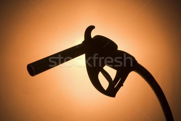 Sziluett benzinpumpa energia benzin stúdió szín Stock fotó © monkey_business
