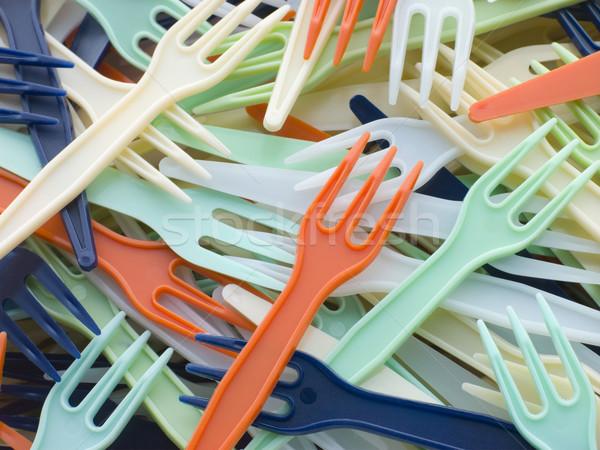 Stock fotó: Köteg · műanyag · elvesz · messze · narancs · zöld