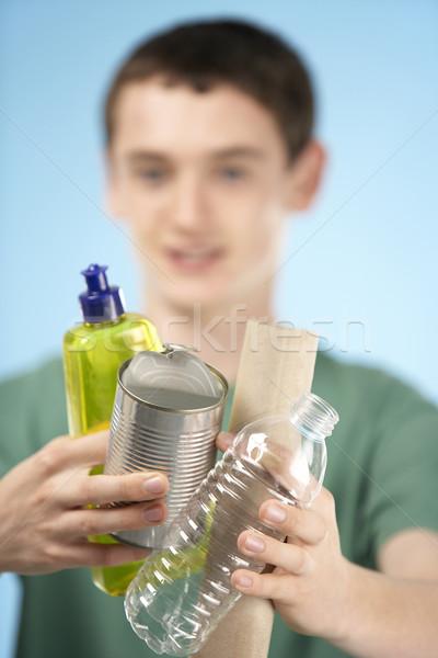 Teenage Boy Holding Recycling Stock photo © monkey_business