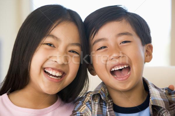 Fratello sorella ridere ragazza bambini felice Foto d'archivio © monkey_business