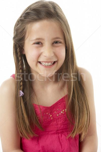 Stüdyo portre gülen kız çocuklar yüz Stok fotoğraf © monkey_business