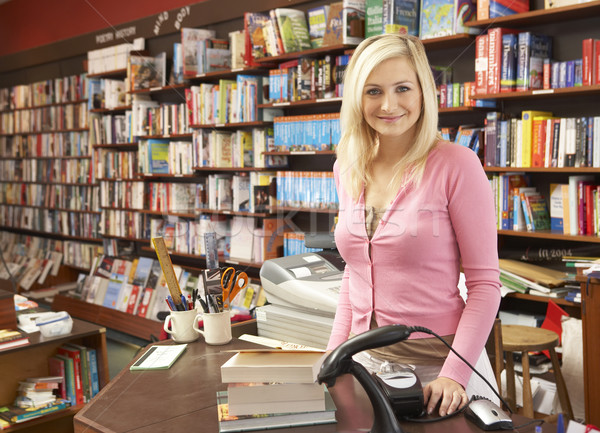 Female bookshop proprietor Stock photo © monkey_business