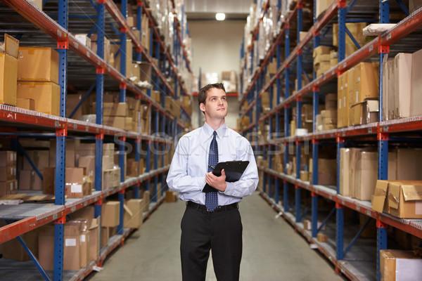 Stockfoto: Manager · magazijn · zakenman · vak · mannen