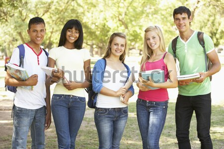 Group Of Female Teenage Students Outdoors Stock photo © monkey_business
