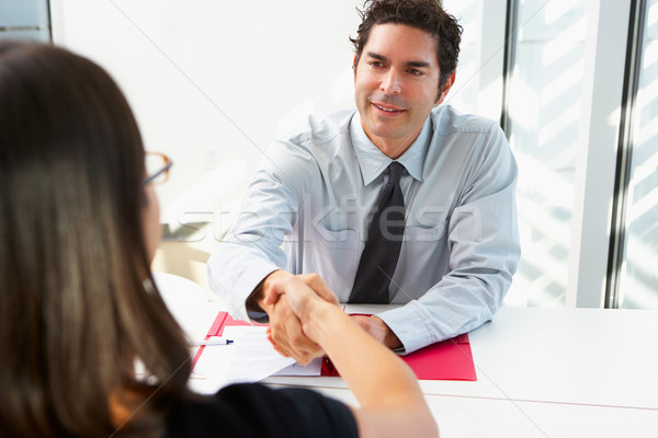 Businessman Interviewing Female Candidate For Job Stock photo © monkey_business
