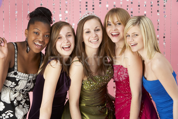 Groupe adolescent amis Prom fête portrait Photo stock © monkey_business
