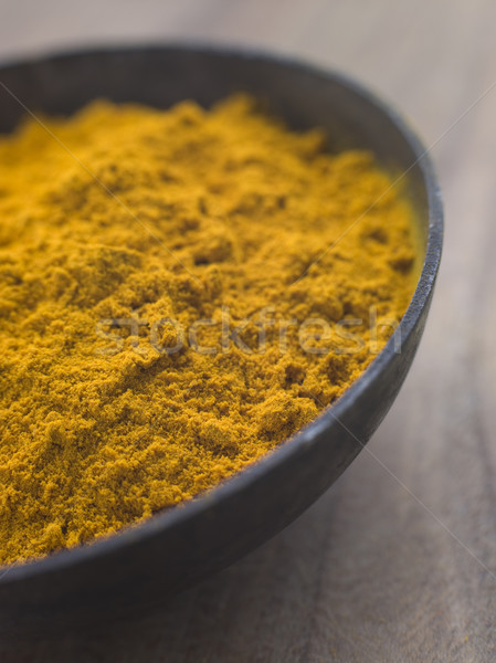 Dish of Ground Dried Turmeric Stock photo © monkey_business