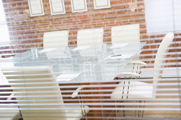 Leer Sitzungssaal Fenster Business Stift Stuhl Stock foto © monkey_business