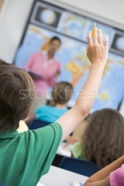Zdjęcia stock: Szkoła · podstawowa · pytanie · geografia · klasy · kobieta