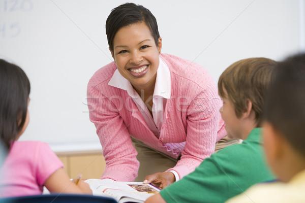小学校 教師 クラス 話し 女性 ストックフォト © monkey_business