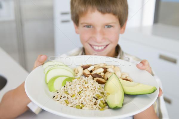 Stok fotoğraf: Erkek · plaka · gıda · sağlıklı · gıda