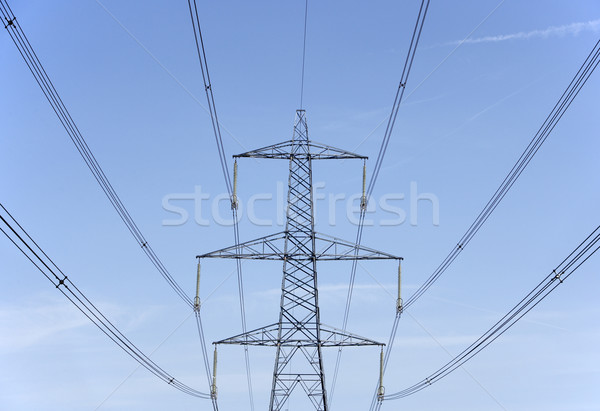 Electricity Pylons Against A Blue Sky Stock photo © monkey_business