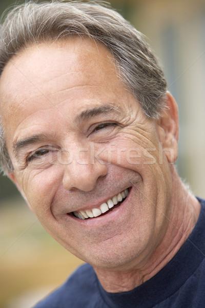 Photo stock: Portrait · supérieurs · homme · souriant · caméra · visage