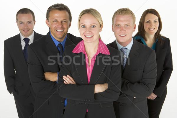 Zdjęcia stock: Zespołu · przyjazny · ludzi · biznesu · działalności · kobiet · mężczyzn
