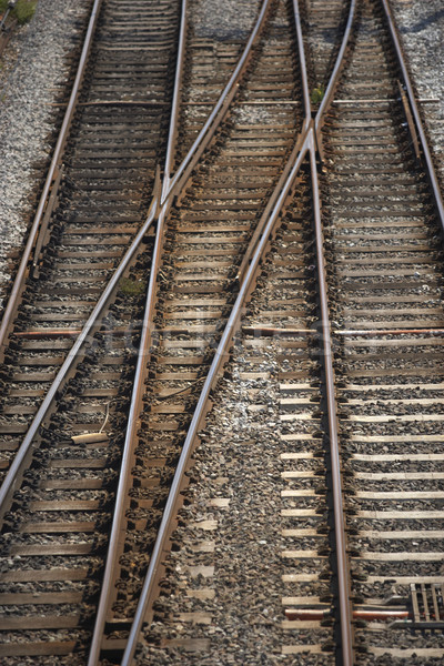 Railway Track Junction Stock photo © monkey_business