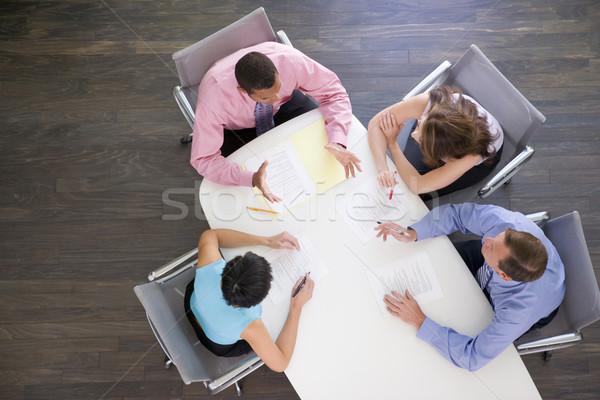Zdjęcia stock: Cztery · sali · konferencyjnej · tabeli · spotkanie · pracy