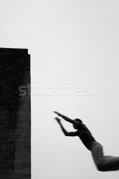 Teenage boy practicing free running Stock photo © monkey_business