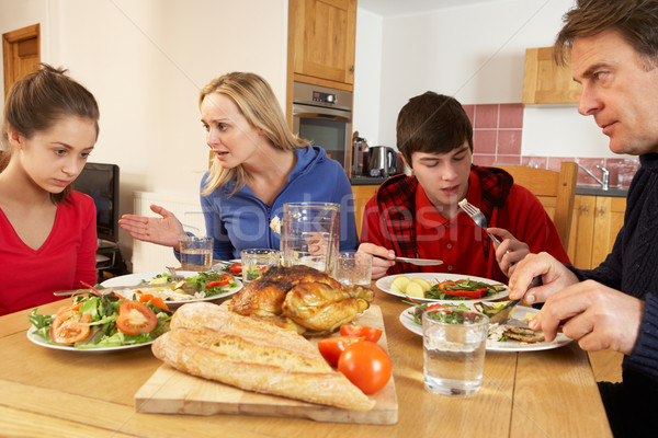 Teenage Family Having Argument Whilst Eating Lunch Together In K Stock photo © monkey_business