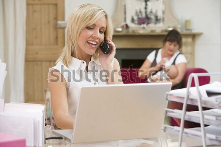 Woman Making Online Purchase In Cafe Stock photo © monkey_business
