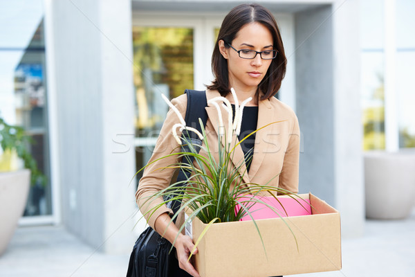 Redundant Businesswoman Leaving Office With Box Stock photo © monkey_business