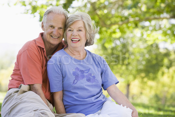 Senior couple relaxing in park Stock photo © monkey_business