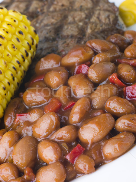 Baked Beans in a Spicy Barbeque Sauce Stock photo © monkey_business
