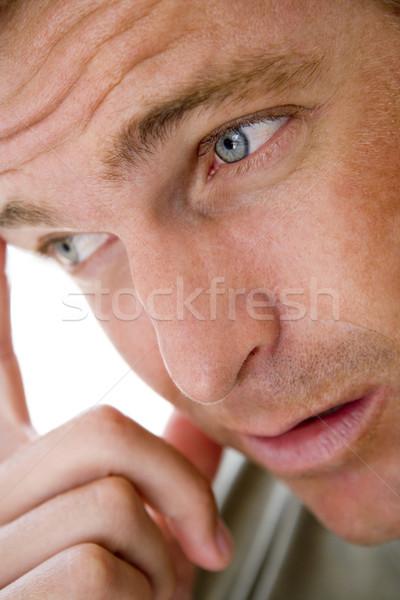 Head shot of man thinking Stock photo © monkey_business