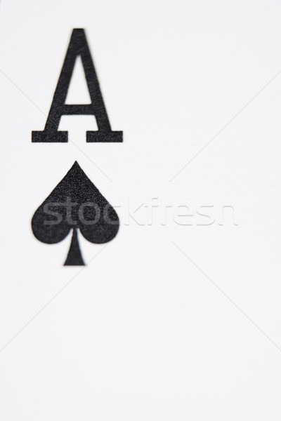 Close up of Ace of Spades Stock photo © monkey_business