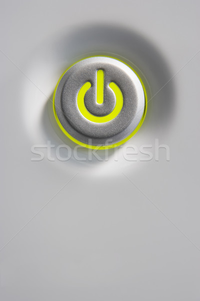 Stock photo: Close Up Of Power Button