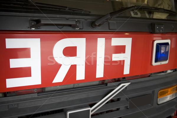 подробность пожарная машина цвета горизонтальный Сток-фото © monkey_business