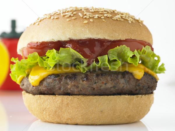 Tasty Beefburger Stock photo © monkey_business