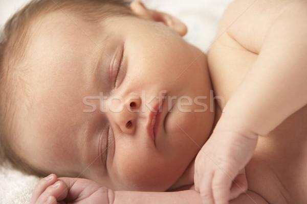 Közelkép baba alszik törölköző fiú alszik Stock fotó © monkey_business