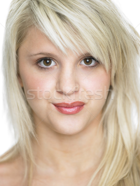 Fechar estúdio retrato menina Foto stock © monkey_business