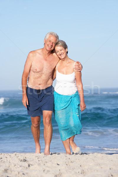 Tatil yürüyüş kadın deniz Stok fotoğraf © monkey_business