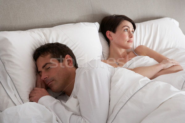 Couple With Problems Having Disagreement In Bed Stock photo © monkey_business