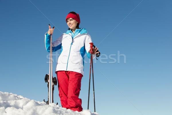 Esquiar férias montanhas homem feliz Foto stock © monkey_business