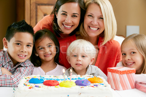 Mothers Celebrating Child's Birthday With Friends Stock photo © monkey_business