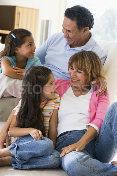 Grands-parents parler petits enfants famille fille homme Photo stock © monkey_business