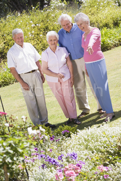 Group of senior friends in gardenGroup of senior friends in gar Stock photo © monkey_business