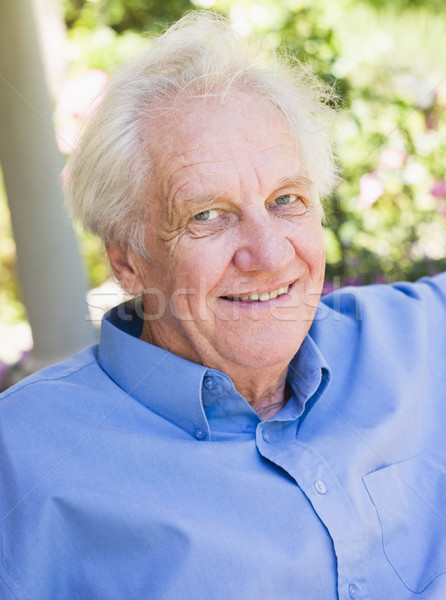 Stock photo: Portrait of senior man relaxing
