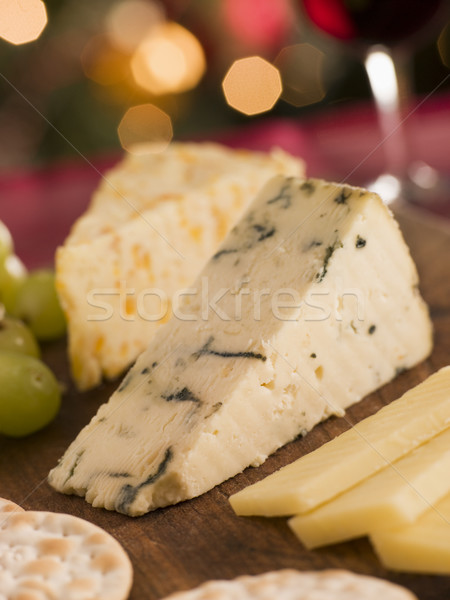 Cheese Board Crackers and Grapes Stock photo © monkey_business