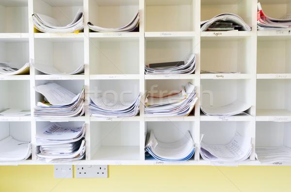 Mur bureau affaires groupe communication couleur Photo stock © monkey_business