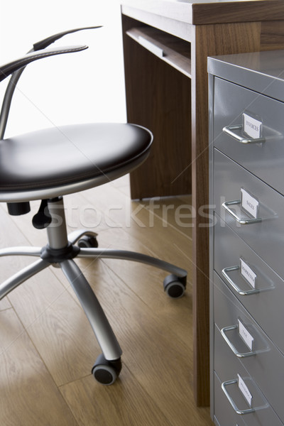 Empty Chair And Desk With Filing Cabinet Stock photo © monkey_business