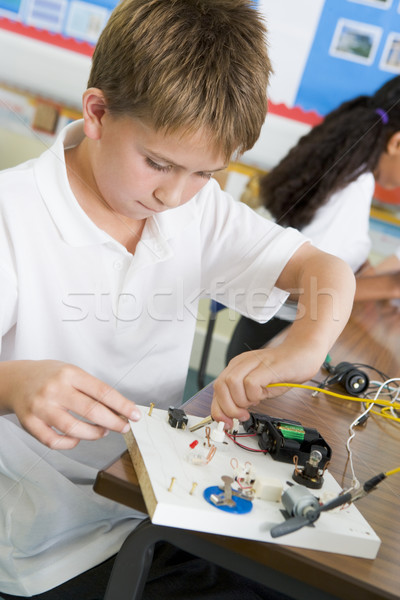 Stock foto: Schüler · Wissenschaft · Klasse · Studenten · Gruppe · arbeiten