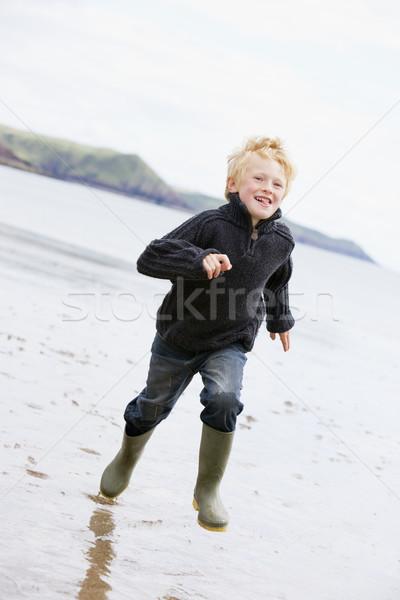 Stok fotoğraf: çalışma · plaj · gülen · çocuk · deniz