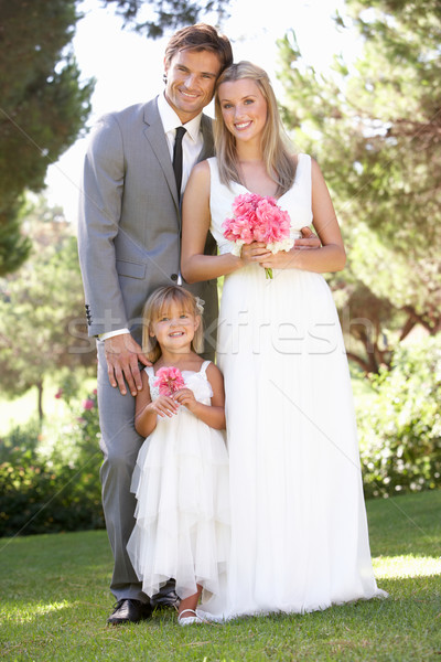 Bride And Groom With Bridesmaid At Wedding Stock photo © monkey_business
