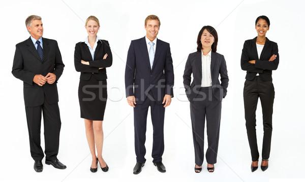 Mista gruppo uomini d'affari donne business lavoro Foto d'archivio © monkey_business